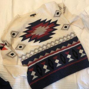 Oversized crewneck sweater